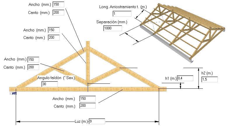 Estrumad xe programas de c lculo de estructuras de acero for Crear una cubierta de madera
